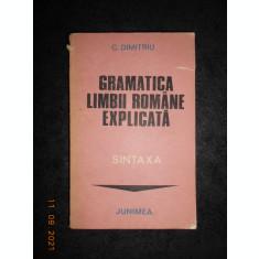 C. DUMITRIU - GRAMATICA LIMBII ROMANE. SINTAXA