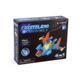 Cumpara ieftin Puzzle cuburi cu LED 4 in 1 - Aeronoava, Avion, Nava Spatiala - 48 piese