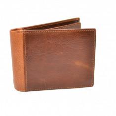 Portofel barbati din piele naturala , de culoare maro - CH1106M