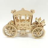 Cărucior din lemn ca decor sau cutie pentru bomboane și ceai, 16x15 cm