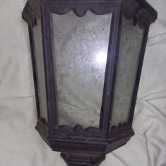 Aplica de perete tip antic/RUSTICA,Corp de iluminat vechi fara fasung,T.GRATUIT