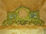Rama foto sec 19, bronz dore, marmura, colectie, cadou, antique