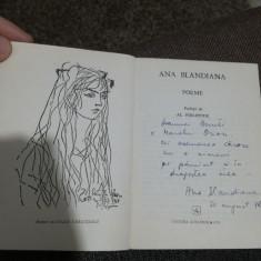 Poezii de Ana Blandiana cu dedicație pentru Geo Bogza