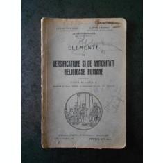 IULIU VALAORI - ELEMENTE DE VERSIFICATIUNE SI DE ANTICHITATI RELIGIOASE ROMANE