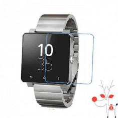 Folie de protectie ecran ceas Sony SmartWatch 2 SW2, set 2 folii