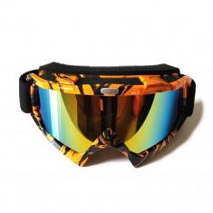 Ochelari unisex ski, snowboard, rama portocalie - lentila multicolora, O3PM