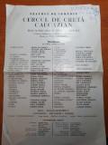 Program teatrul de comedie noiembrie 1978 - cercul de creta caucazian