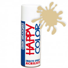 Spray vopsea Fildes Ral 1014 HappyColor Acrilic, 400ml Kft Auto