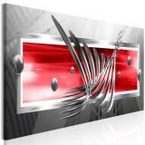 Tablou canvas - Aripile de argint Red Red - 135 x 45 cm, Artgeist