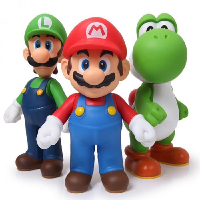 Set figurine Super Mario Bros (Mario, Luigi si Yoshi) Nintendo