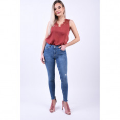 Blugi Pieces Five Delly B185 Skinny Albastru