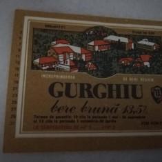 Eticheta bere Romania - GURGHIU - Reghin !
