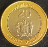 Moneda exotica - bimetal 20 DOLARI - JAMAICA, anul 2000 *cod 2315 B, America de Nord