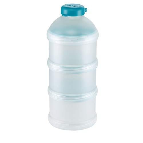 Set 3 recipiente pentru dozarea laptelui praf 240 ml Nuk 256268, Verde