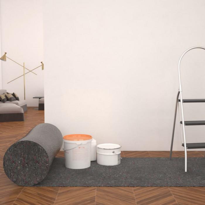 Protecție antiderapantă podea zugravi 2 buc, 50m, 180g/m², gri