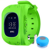 Ceas cu GPS Tracker si Telefon pentru copii iUni Kid60, BT, Apel SOS, Activity and sleep, Verde + Boxa Cadou