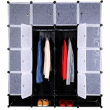 Dulap garderoba, plastic, negru, RODAN TYP 2