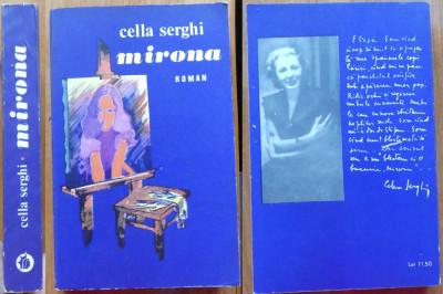 Cella Serghi , Mirona , 1972 , 2 autografe consistente catre Zaharia Stancu foto