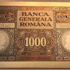 1000 Lei 1917 Banca Generala Romana bancnota polimer innobilata argint pur