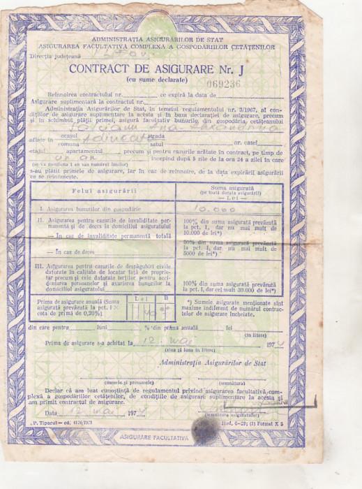 bnk div ADAS - Contract de asigurare - 1974