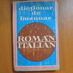 DICTIONAR DE BUZUNAR ROMAN-ITALIAN de DOINEA CONDREA-DERER 1972