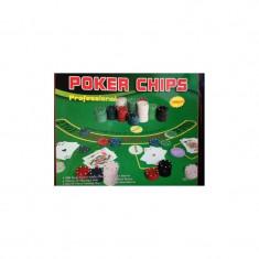 Joc de Poker cu 500 Jetoane in cutie metalica si accesorii joc