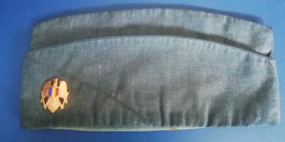 M 510 - BONETA MILITARA CU EMBLEMA - BLEUMARIN - PIESA DE COLECTIE foto