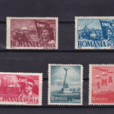 ROMANIA 1947   LP 217    1 MAI  ZIUA MUNCII  SERIE   MNH