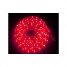 Instalatie Rola LED 10 m furtun luminos Rosu + alimentator inclus / instalatie de craciun