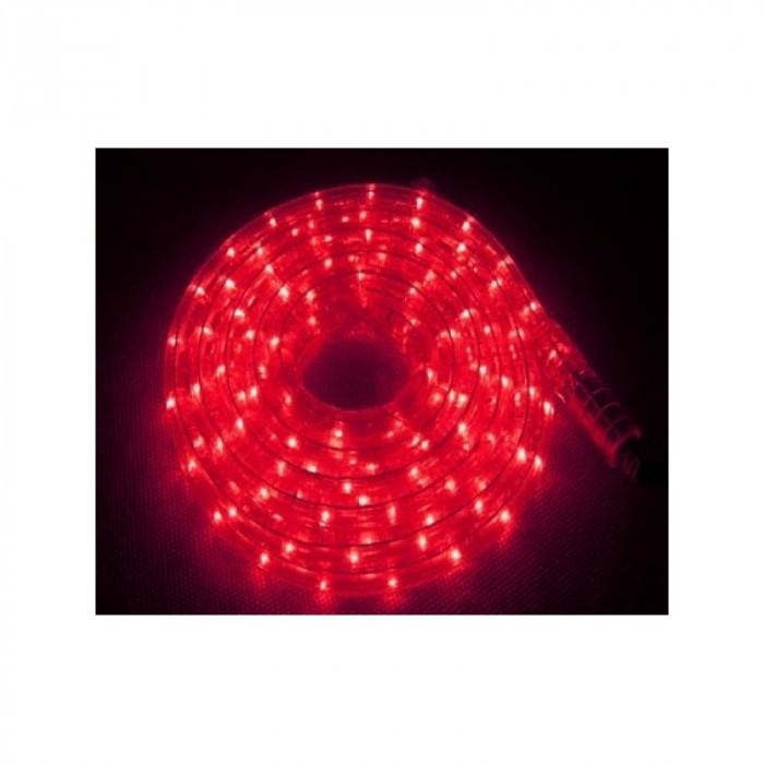Instalatie Rola BEC 10 m furtun luminos Rosu + Controller inclus / instalatie de craciun