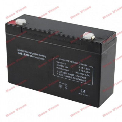 Acumulator stationar 6V 9.1Ah (masinuta electrica) foto