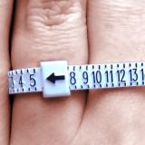 Instrument, dispozitiv masurator marime deget marimea inel, verighete, ghiul