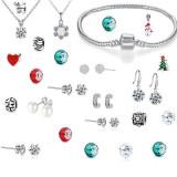 Set 24 bijuterii dama, multicolor, ambalaj tip calendar inclus
