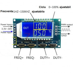 GENERATOR de FRECVENTA ajustabil cu afisaj electronic. Arata frecventa generata