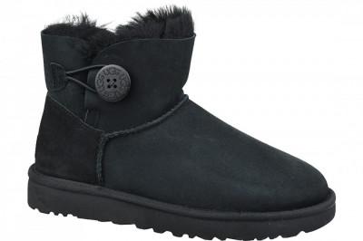 Pantofi de iarna UGG Mini Bailey Button II 1016422-BLK pentru Femei foto