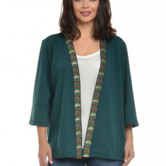 Bluza Dama Verde tip Kimono cu banda deco