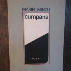 MARIN  MINCU - CUMPANA  ( DEDICATIE , AUTOGRAF )