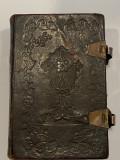 Carte religioasa veche chirilica secol 19 Carte de rugaciuni acatistier
