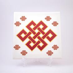 Placheta ( placa ) cu nod mistic pe canvas
