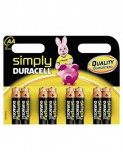 Set 8 baterii AA R6, Duracell Simply