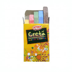 Creta scolara color 10 bucati/cutie