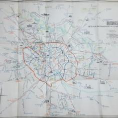 București, hartă, Rețeaua de transport în comun, Schema circulației de noapte