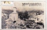 Bnk foto Manastirea Vatarec - poza circulata prin posta, Alb-Negru, Cladiri, Romania de la 1950