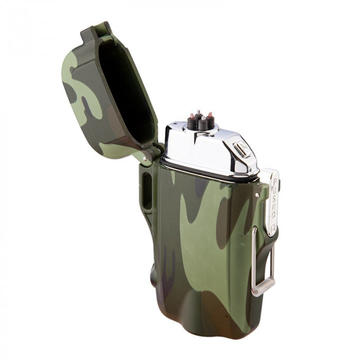 Bricheta MBrands Army electronica, Rezistenta la apa, DUBLU ARC cu lanterna
