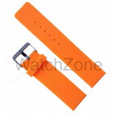 Curea ceas silicon portocalie 22mm