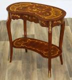 Masuta din lemn masiv cu furnir deosebit cu decoratiuni din alama  CAT-AB35-neu, Mese si seturi de masa