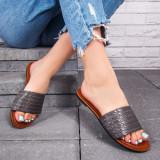 Papuci dama cu talpa joasa gri Palisa