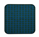 Perna pentru protectie scaun, Suprima, Albastru-Verde carouri, 45 x 45 cm
