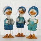 Figurina decorativa din polirasina Duck Multicolor, Modele Asortate, l5xA4,5xH14 cm