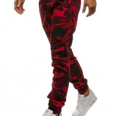 Pantaloni joggers pentru bărbat camuflaj-roșii Bolf 0829